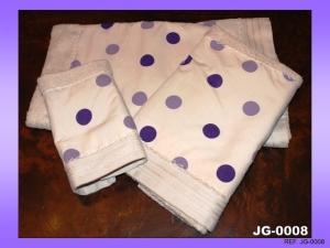 juego toallas topos morados