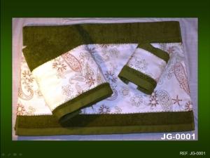 juego toallas verde